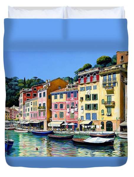Portofino Sunshine Sold Duvet Cover