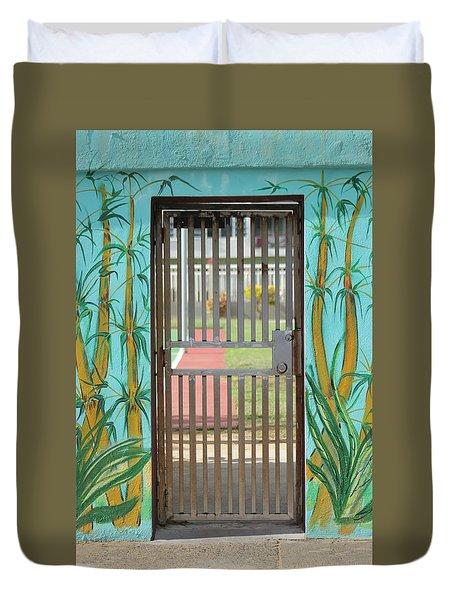 Porton Cerrado Duvet Cover by The Art of Alice Terrill