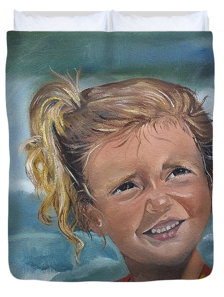 Portrait - Emma - Beach Duvet Cover