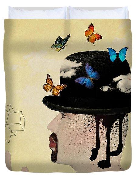 Portrait Hat Duvet Cover by Mark Ashkenazi