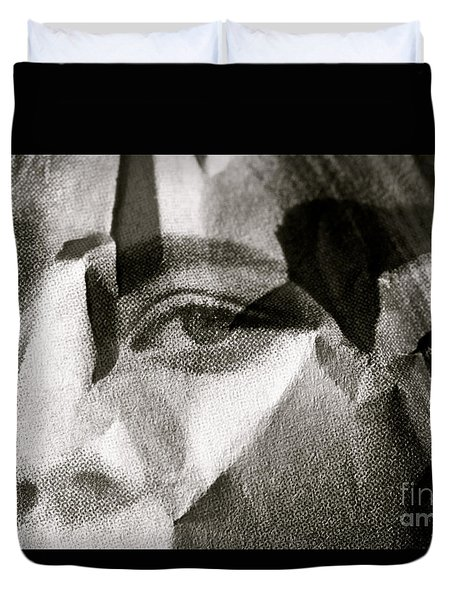 Portrait In Black And White Duvet Cover