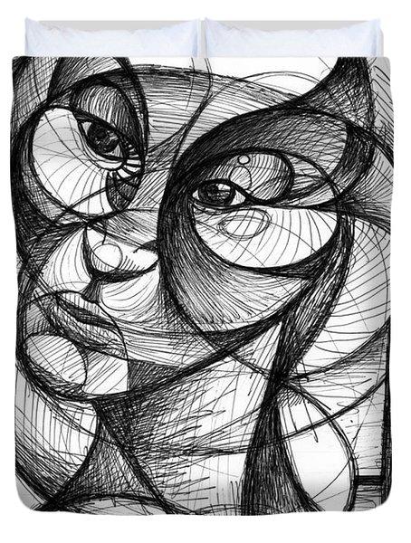 Portrait Duvet Cover by Nicholas Burningham