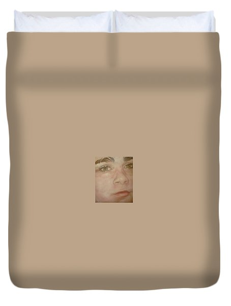 Portrait Of A Boy Duvet Cover by Cherise Foster