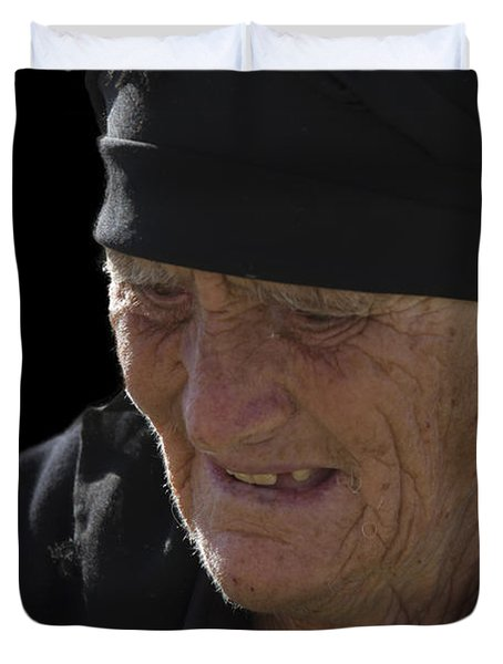 Portrait Of A Fishermans Wife Duvet Cover by Heiko Koehrer-Wagner
