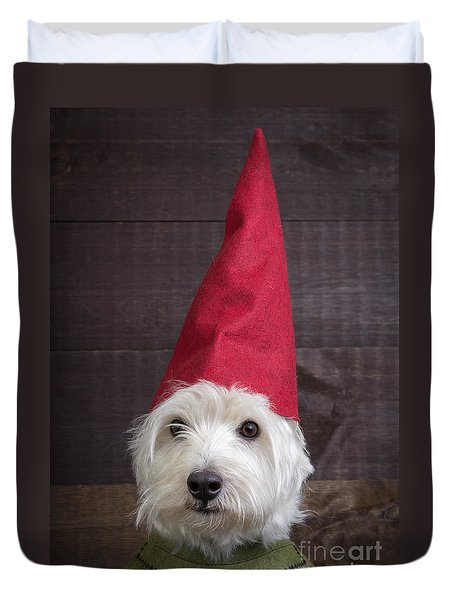 Portrait Of A Garden Gnome Duvet Cover