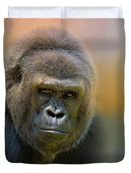 Portrait Of A Gorilla Duvet Cover