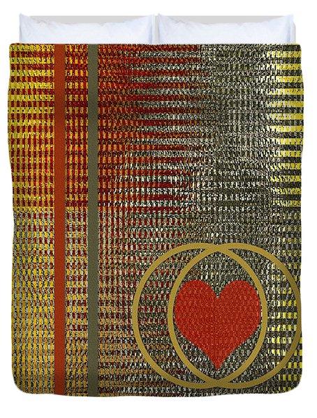 Portrait Of A Heart Duvet Cover by Ben and Raisa Gertsberg