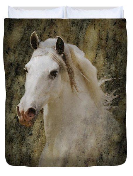 Portrait Of A Horse God Duvet Cover