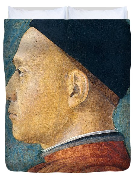 Portrait Of A Man Duvet Cover by Andrea Mantegna