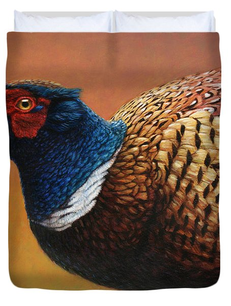 Portrait Of A Pheasant Duvet Cover