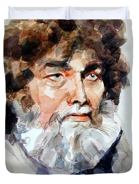 Watercolor Portrait Of A Sailor Duvet Cover