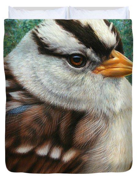 Portrait Of A Sparrow Duvet Cover