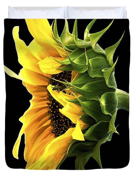 Portrait Of A Sunflower Duvet Cover