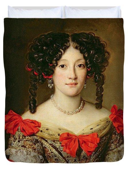 Portrait Of A Woman Duvet Cover by Jacob Ferdinand Voet