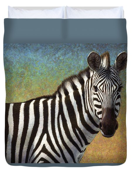 Portrait Of A Zebra Duvet Cover