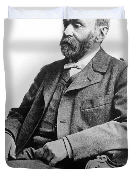 Portrait Of Alfred Nobel Duvet Cover