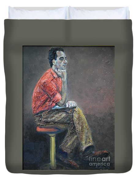 Portrait Of Ali Akrei - The Painter Duvet Cover