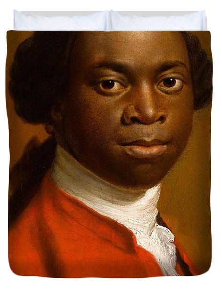 Portrait Of An African Duvet Cover by Allan Ramsay