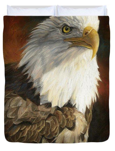 Portrait Of An Eagle Duvet Cover