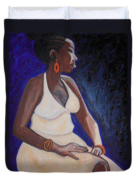 Portrait Of An Ethiopian Woman Duvet Cover