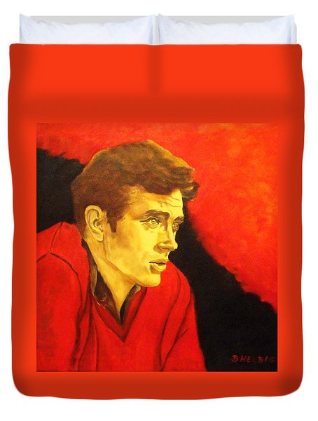 Portrait Of An Idol Duvet Cover by Dagmar Helbig