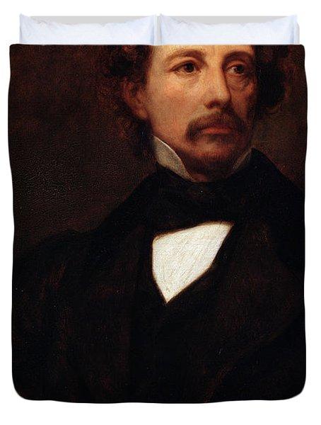 Portrait Of Charles Dickens Duvet Cover