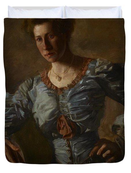 Portrait Of Elizabeth L Burton Duvet Cover by Thomas Cowperthwait Eakins