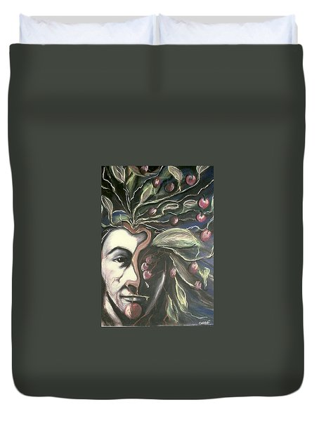 Self Portrait  Duvet Cover by Carrie Maurer