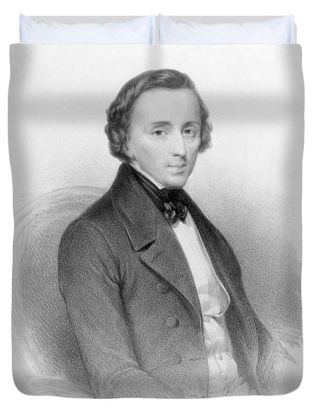 Portrait Of Frederic Chopin Duvet Cover