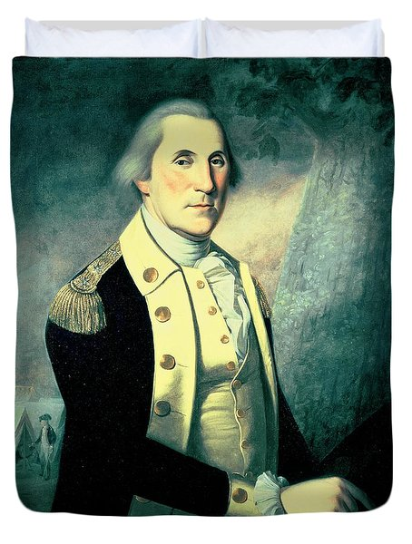 Portrait Of George Washington Duvet Cover by James the Elder Peale