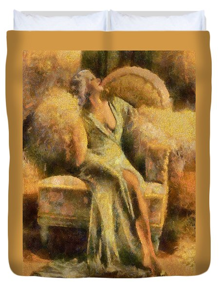 Portrait Of Jean Harlow Duvet Cover