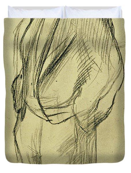 Portrait Of Ludovic Halevy Duvet Cover by Edgar Degas