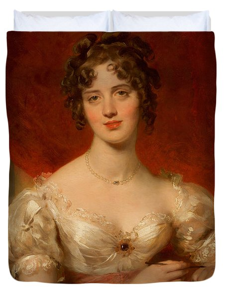 Portrait Of Mary Anne Bloxam Duvet Cover by Thomas Lawrence