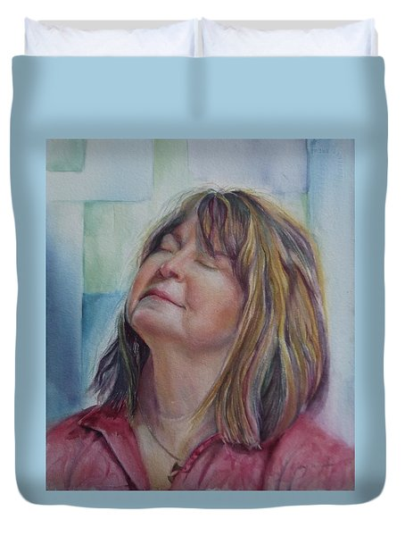 Portrait Of Peg Duvet Cover