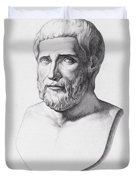 Portrait Of Pythagoras Duvet Cover