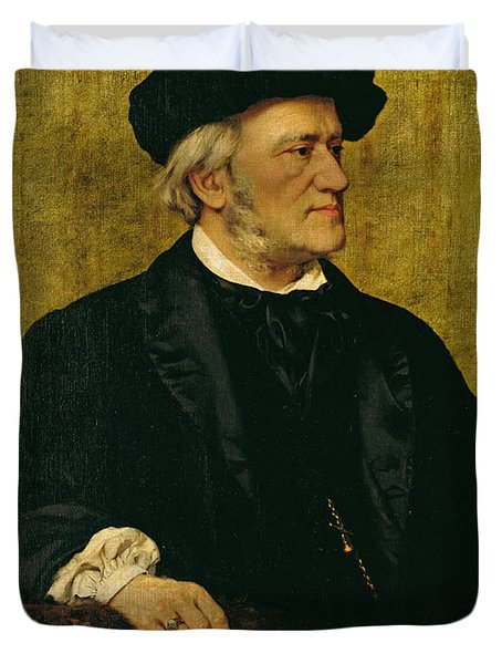Portrait Of Richard Wagner Duvet Cover by Giuseppe Tivoli