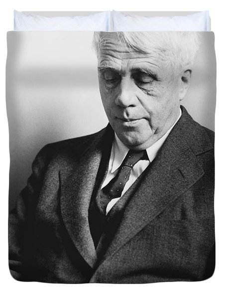 Portrait Of Robert Frost Duvet Cover