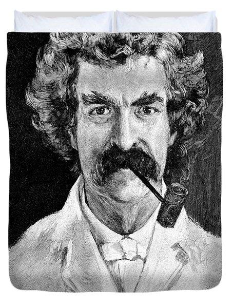Portrait Of Samuel Langhorne Clemens Duvet Cover