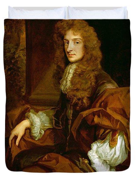 Portrait Of Sir Charles Sedley 1687 Duvet Cover