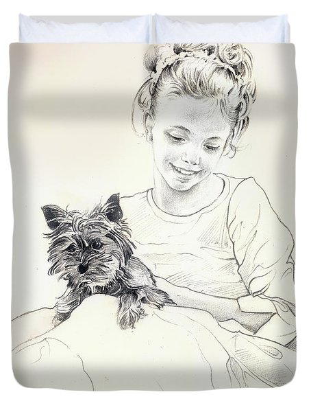 Portrait Of Sylwia Duvet Cover