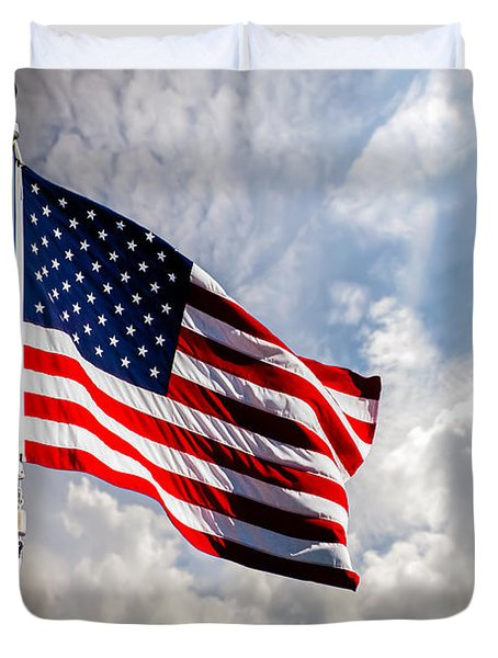 Portrait Of The United States Of America Flag Duvet Cover by Bob Orsillo