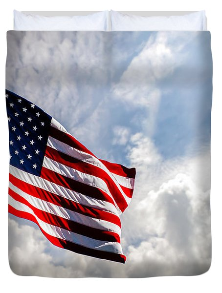 Portrait Of The United States Of America Flag Duvet Cover
