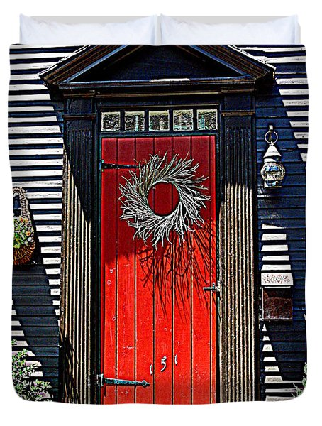 Portsmouth Door 2 Duvet Cover by Kevin Fortier
