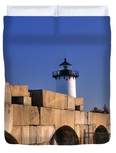 Portsmouth Harbor Light 2 Duvet Cover by Joann Vitali
