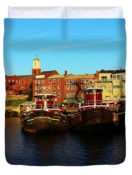 Portsmouth In The Afternoon Duvet Cover
