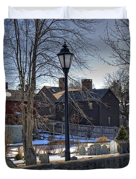 Portsmouth Winter Duvet Cover by Joann Vitali