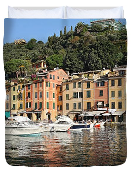 Duvet Cover featuring the photograph Porttofino - Italy by Antonio Scarpi