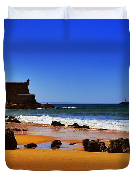 Portuguese Coast Duvet Cover by Marco Oliveira