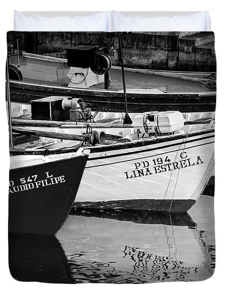 Portuguese Fishing Boats Duvet Cover