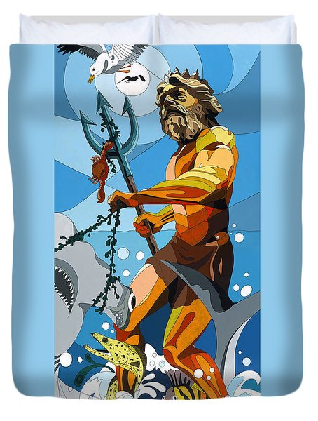 Poseidon - W/hidden Pictures Duvet Cover